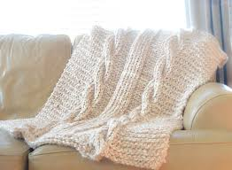 Cable Knit Blanket Pattern Custom Design