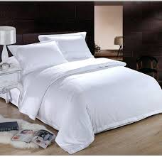 cotton duvet cover set queen pure white hotel home textile bedding king size solid color
