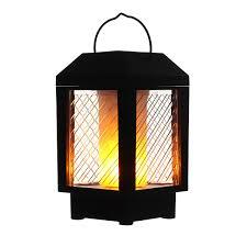 <b>96 LED Solar</b> Flame Flickering Light Indoor Outdoor Landscape ...