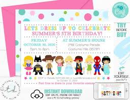 Costume Party Invitation Instant Download Dress Up Party Invitation Costume Party Printable Invitation Editable Costume Invite Corjl 0221