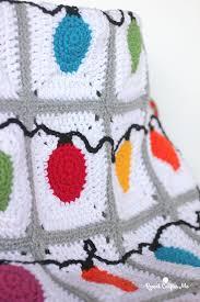 Crochet Christmas Lights Blanket Crochet Christmas Lights Blanket Christmas Crochet Blanket