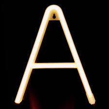 26 Letter Led Lamp Battery Operated Powered A Z Shape Warm White