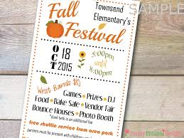 Custom Printable Half Page School Church Flyer Banner Fall