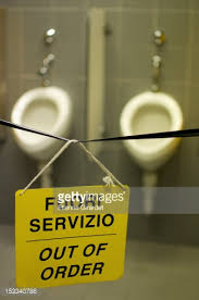 Out Of Order Sign In Public Bathroom Stock Photo Getty Images