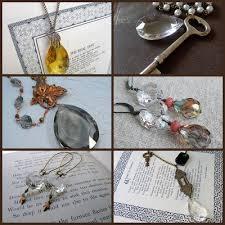 necklace 6 53 asymmetrical copper leaf flourish with vintage chandelier crystal by adornmentsnyc