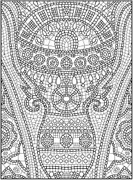Small Picture Wondrous Ideas Mosaic Coloring Pages 8 Charming Design Top 20 Free