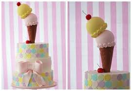 Pastel Pink Ice Cream Birthday Party Bickiboo Designs