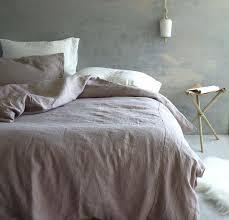 charcoal linen duvet cover pink or dusk rough bed set in a bag nz full