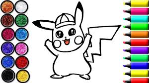 Pokemon Detective Pikachu Coloring And Drawing For Kids Toddlers