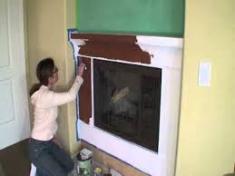 fireplace paint ideasFireplace Remodel Ideas Using Venetian Plaster And High Temp Stove