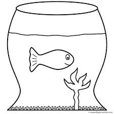 Small Picture Goldfish in Fish Bowl Coloring Page Fish