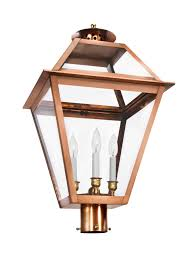 ch  post light copper lantern gas and electric lighting