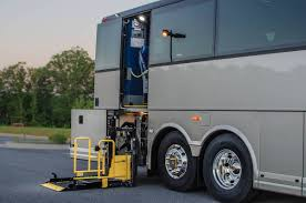 Wheelchair Accessible Charter Coach ADA Compliant - Exterior wheelchair lifts