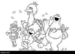Monster Coloring Pages To Print Cookie Monster Coloring Sesame