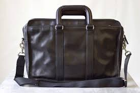 coach laptop bag briefcase genuine leather