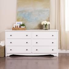 white bedroom dresser. Modren Bedroom Prepac Monterey 6Drawer White Dresser Intended Bedroom The Home Depot