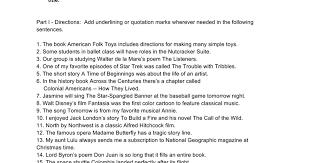 Punctuating Titles Worksheet - Google Docs