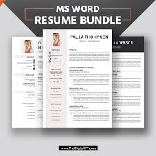 2019 2020 Resume Bundle Cv Bundle For Digital Instant Download For Students Interns College Graduates Mba Graduates Experienced Professionals