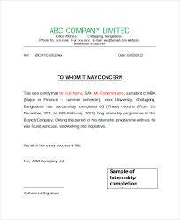 Internship Certifi Certificate Format Of Internship Photo In