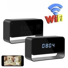 new hd 1080p wifi alarm clock night vision motion detector wireless small nanny cam for home office security for iphone android view web cams