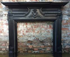 reclaimed victorian style cast iron fireplace surround