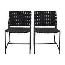 restoration outdoor furniture. Shop Restoration Hardware Dark Grey Woven Outdoor Chairs Online Furniture S