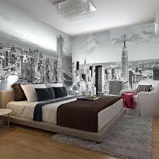 New York Bedroom Wallpaper Large Black And White Mural New City Building  Wall Mural For Hall