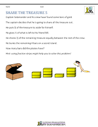 fifth grade math problems share the treasure ps  fifth grade math problems share the treasure 5