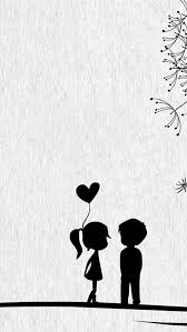 Love Cute Cartoon Little Couple IPhone Se Wallpaper Download Best Little Couple Photo Download