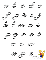 Capital And Lowercase Cursive Letters Chart Grade School Kids Alphabet Chart Lowercase At Yescoloring