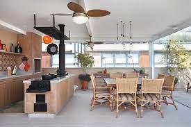 Sala com lareira para 3 ambientes. 7 Ambientes Charmosos Com Fogao A Lenha Ideias Pedreiros