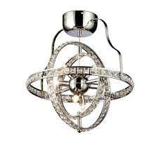 katie s crystal 4 light chrome chandelier