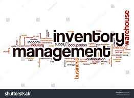 Word Inventory Inventory Management Word Cloud Concept Stock Illustration