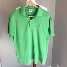 Lacoste Kelly Green Men S Polo Size 5 Large