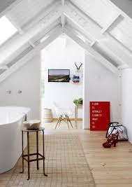Bathroom: Wooden Attic Bathroom Design - Vintage Bathroom