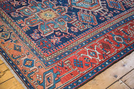 image of persian rug blue and red