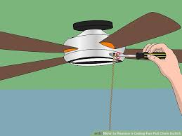 Ceiling Fan Pull Chain Broke Impressive How To Replace A Ceiling Fan Pull Chain Switch With Pictures