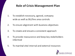 crisis management plan example best practice crisis and issues management a recommended approach b