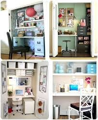 organize small closet space into desk guest room or kitchen desk corner turn closet into office