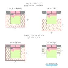 area rug size guide queen bed bedrooms and sizes for