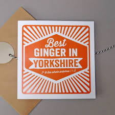 Card Ginger Personalised 'best In' Retro