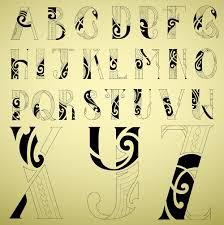Abstract Alphabet Font Vectors Free Download