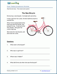 Worksheet for (very) young learners who have just started reading. Free Printable First Grade Reading Comprehension Worksheets K5 Learning