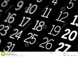 Black Calendar Stock Image Image Of Present Background 2416779