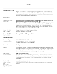 Sample Resume Objective For Hrm Hr Generalist Resume Objective Examples Examples Of Resumes 15