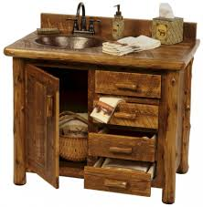 Rustic Bathroom Vanities And Sinks Enchanting Rustic County Bathroom Vanity Decor Ideas Having