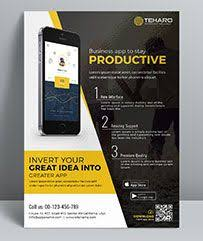 Make Flyer App Mobile App Flyer Template Perfectly Suitable For Promote