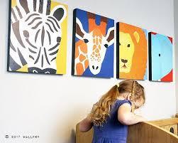 nursery decor set of any 4 safari animal canvas wrap series african animal zoo animal canvas wall art for kids safari series by wallfry safari animals  on safari canvas wall art with nursery decor set of any 4 safari animal canvas wrap series