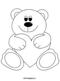 Small Picture Bear with flower coloring page Mothers Day Pinterest Bears