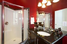 Dark Red Bathroom Black White And Red Bathroom Decorating Ideas Black And White